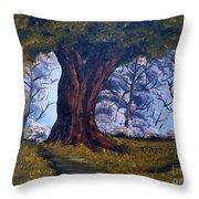 Old Oak Tree Throw Pillow