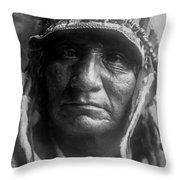 Old Oglala Man Circa 1907 Throw Pillow by Aged Pixel