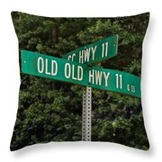Old Old Throw Pillow