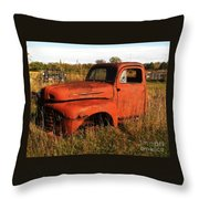 Old Orange Throw Pillow