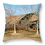 Old Orchard Barn Throw Pillow