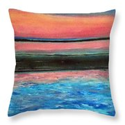 Old Orchard Beach Maine Snow Cover Throw Pillow