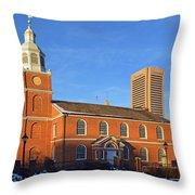 Old Otterbein United Methodist Church Throw Pillow
