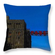 Old Pabst Brewery Throw Pillow
