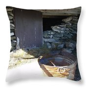 Old Pail Throw Pillow