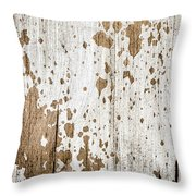Old Painted Wood Abstract No.3 Throw Pillow