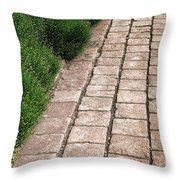 Old Pavers Alley Throw Pillow by Olivier Le Queinec