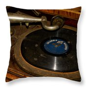 Old Phonograph Throw Pillow