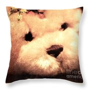 Old Photo Bear Throw Pillow