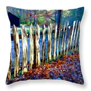 Old Picket Fence Greenbrier School Throw Pillow