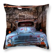 Old Pickup Truck Hdr Throw Pillow