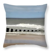 Old Pilings Throw Pillow