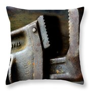 Old Pipe Wrench Throw Pillow
