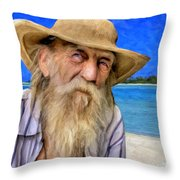 Old Pirate Bill Throw Pillow