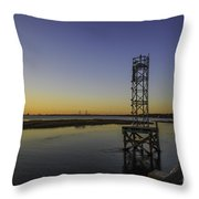Old Pit Street Bridge To Ravenel Bridge Throw Pillow