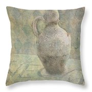 Old Pitcher Abstract Throw Pillow