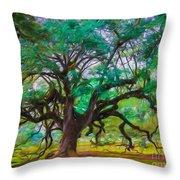 Old Plantation Oak Throw Pillow