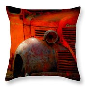 Old Plymouth Red Throw Pillow