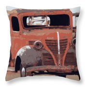 Old Plymouth Trucks Throw Pillow