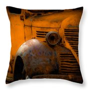 Old Plymouth Yellow Throw Pillow