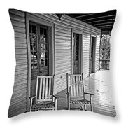 Old Porch Rockers Throw Pillow