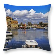 Old Port Holiday Throw Pillow