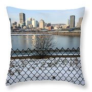 Old Port Of Montreal Throw Pillow