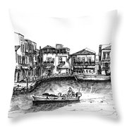 Old Port- Rethymno Throw Pillow