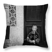Old Portuguese Woman Throw Pillow