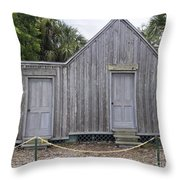 Old Post Office In Melbourne Beach Throw Pillow