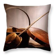 Old Pots And Pans Throw Pillow by Olivier Le Queinec