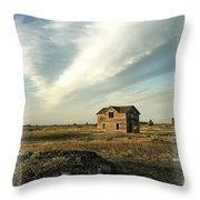 Old Prairie Homestead Throw Pillow