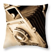 Old Press Camera Throw Pillow by Edward Fielding