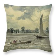 Old Quarantine Station Circa 1857 Throw Pillow