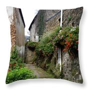 Old Quarter Of La Roche Bernard Throw Pillow