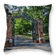 Old Queens Entrance Gate Throw Pillow