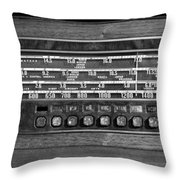 Old Radio Change The Station Throw Pillow