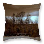 Old Railroad Throw Pillow