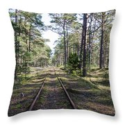 Old Railroad Tracks Throw Pillow