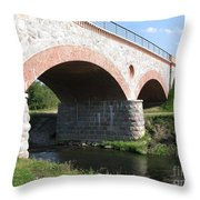 Old Railway Bridge In Silute. Lithuania. Summer Throw Pillow