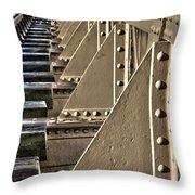 Old Railway Bridge In The Netherlands Throw Pillow