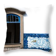 Old Railway Station Throw Pillow