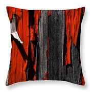 Old Red Barn Two 2 Throw Pillow