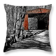 Old Red Bridge Throw Pillow