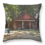 Old Red House In Lal Bag Throw Pillow