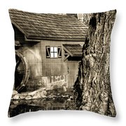 Old Red Mill Throw Pillow