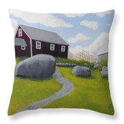 Old Red Schoolhouse Throw Pillow