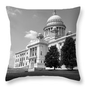 Old Rhode Island State House Bw Throw Pillow