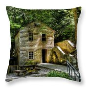 Old Rice Grist Mill Throw Pillow
