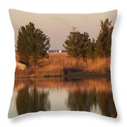 Old Roads And Bridges South Jersey Throw Pillow